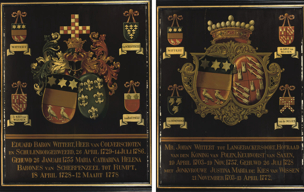 A PAIR OF DUTCH PARCEL-GILT AN