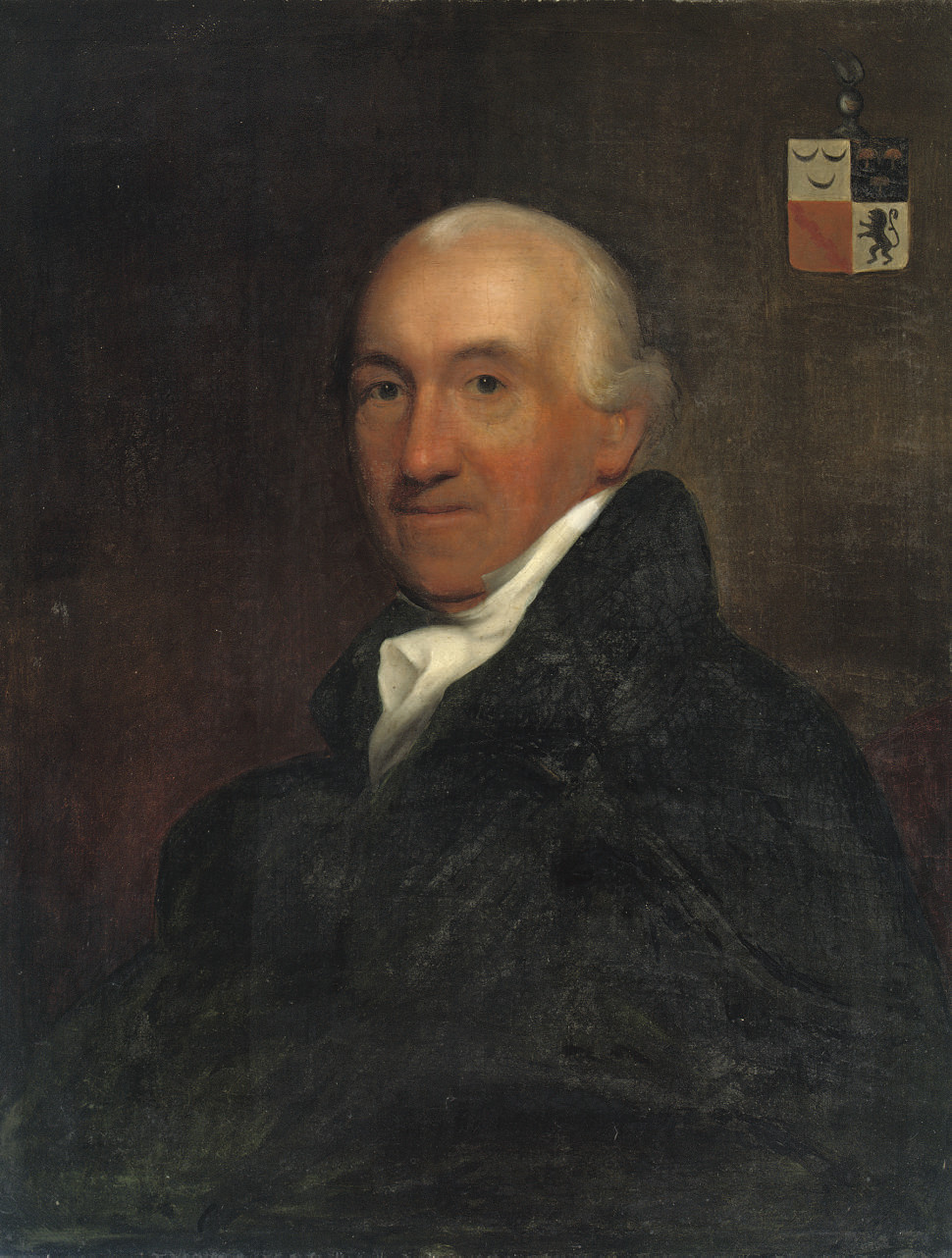 Portrait of Rogier Gerard van Polanen, half-length, in a black costume with a white jabot