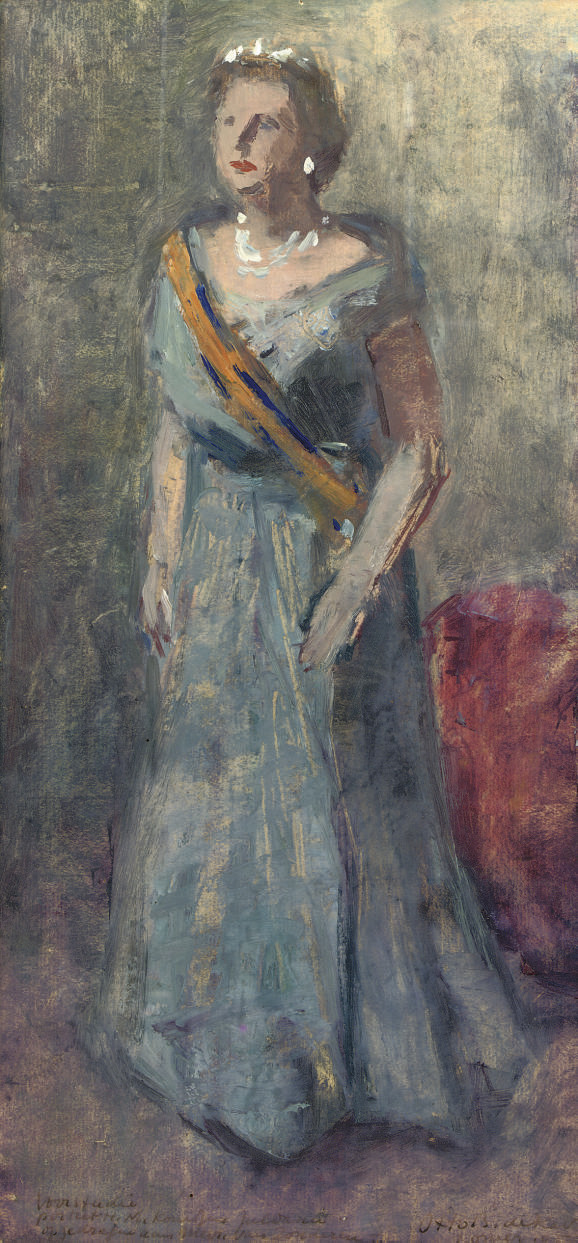 Voorstudie portret H.M. Koningin Juliana - Portrait of H.R.H Queen Juliana