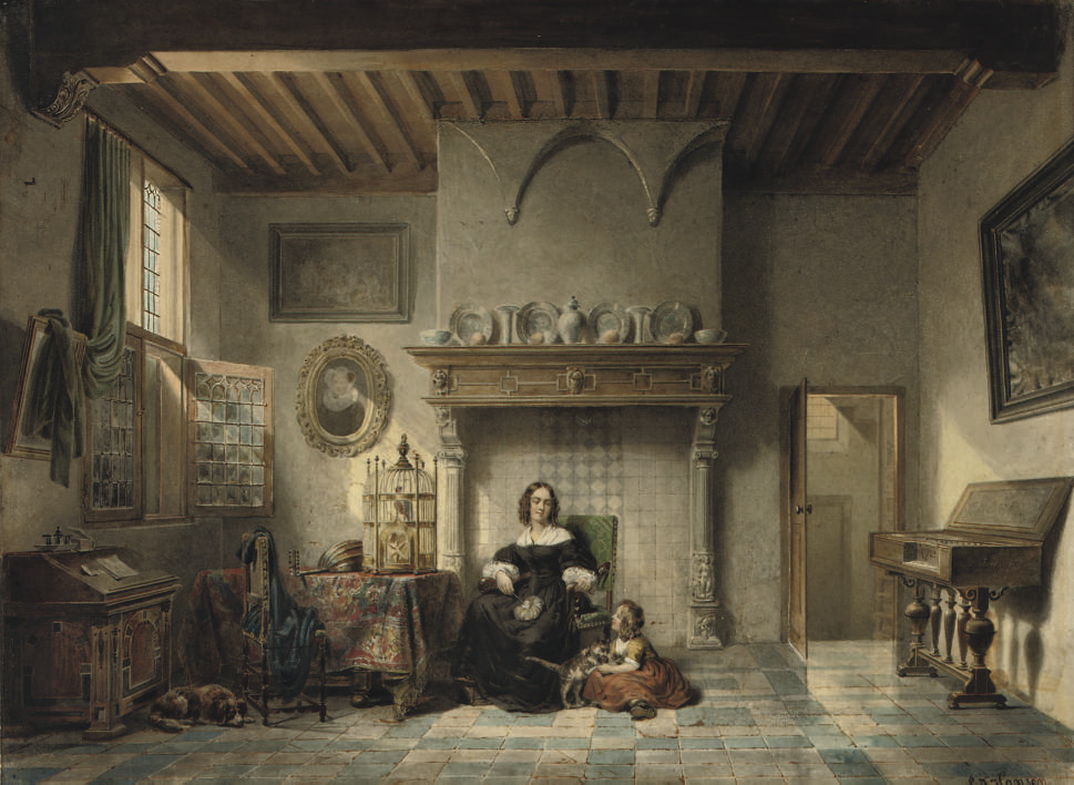 An afternoon in a Dutch interior