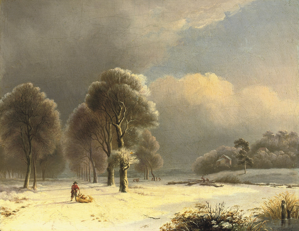 On a snow-covered path