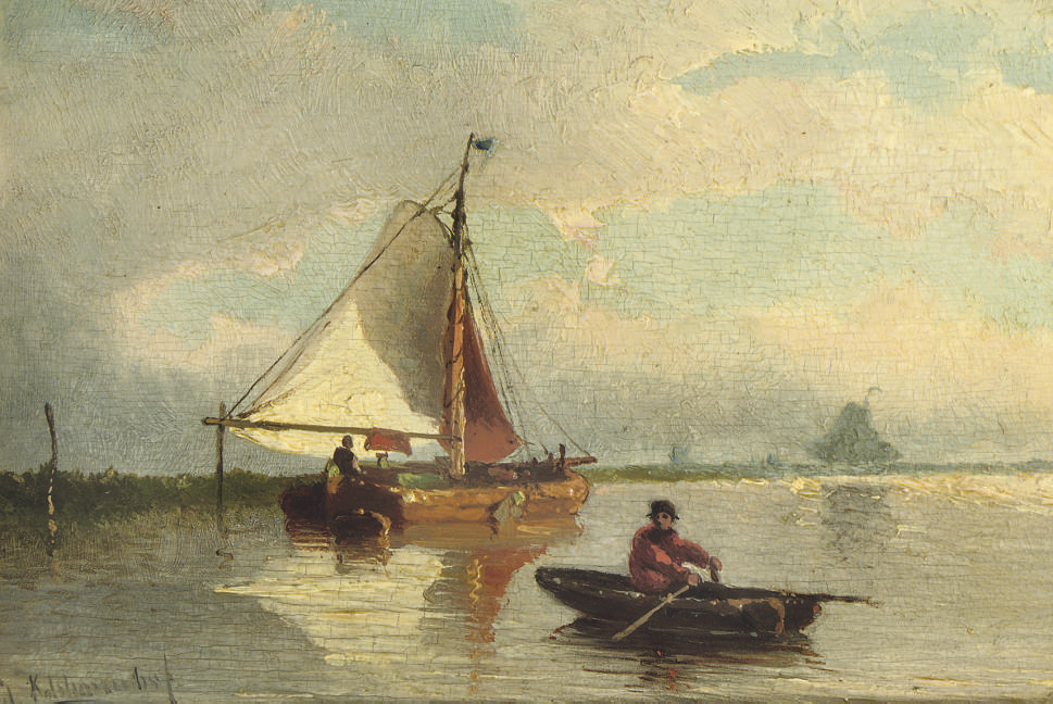 Rowing on a calm river