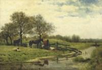 A riverside meadow