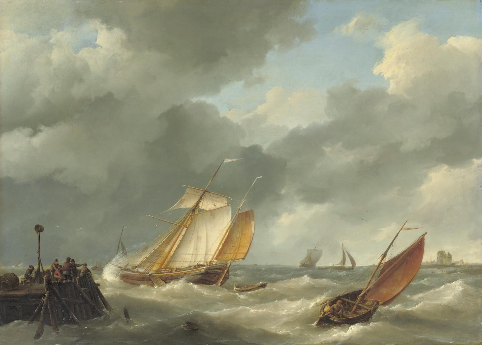 Shipping on a choppy sea