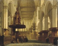 The pulpit in the nave of the Nieuwe Kerk, Amsterdam
