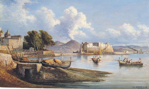 Naples with Mount Vesuvius beyond