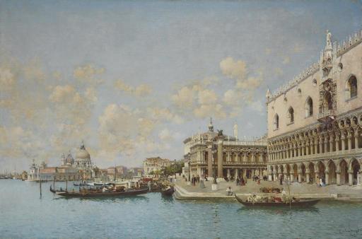 The Doge's Palace and Santa Maria della Salute, Venice