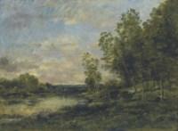 Gardeuse de moutons près de la rivière