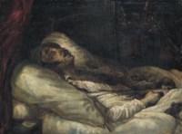 Le Général Letellier sur son lit de mort