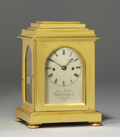 A Victorian gilt-brass striking eight day carriage clock