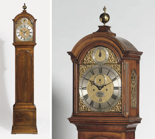 A George III mahogany and brass-mounted eight day longcase clock