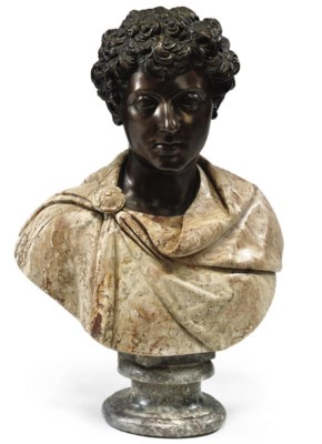 AN ITALIAN BRONZE AND SPECIMEN