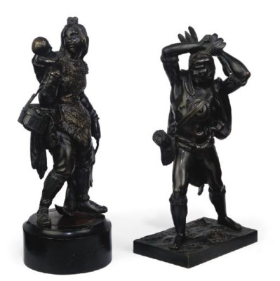 TWO CONTINENTAL BRONZE FIGURES
