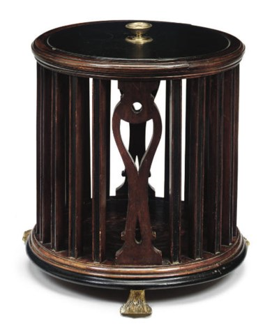 A MAHOGANY AND EBONISED PIERCE