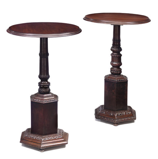TWO SIMILAR WALNUT OCCASIONAL TABLES