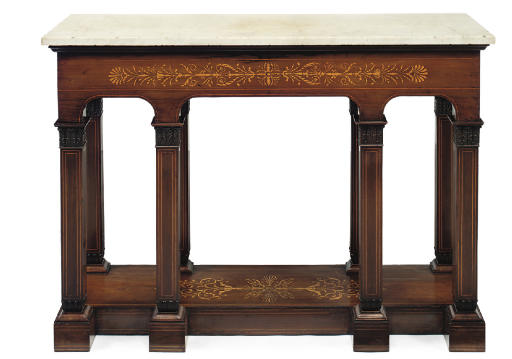 A CHARLES X MARQUETRY INLAID K