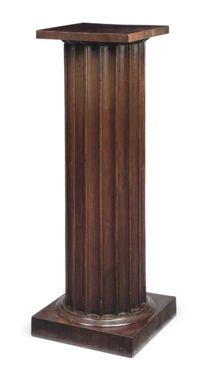 A WILLIAM IV MAHOGANY FLUTED P