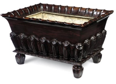 A WILLIAM IV MAHOGANY WINE COO