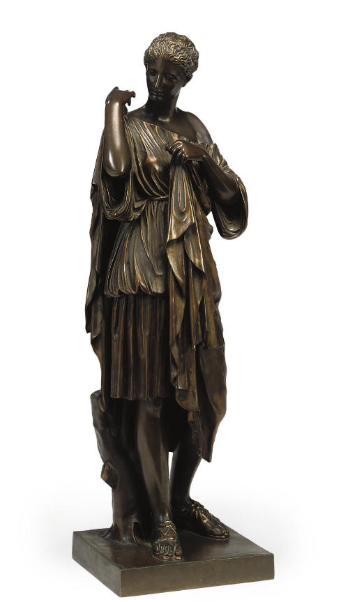 A FRENCH BRONZE FIGURE OF DIAN
