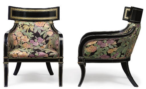 A PAIR OF ETRUSCAN REVIVAL EBO