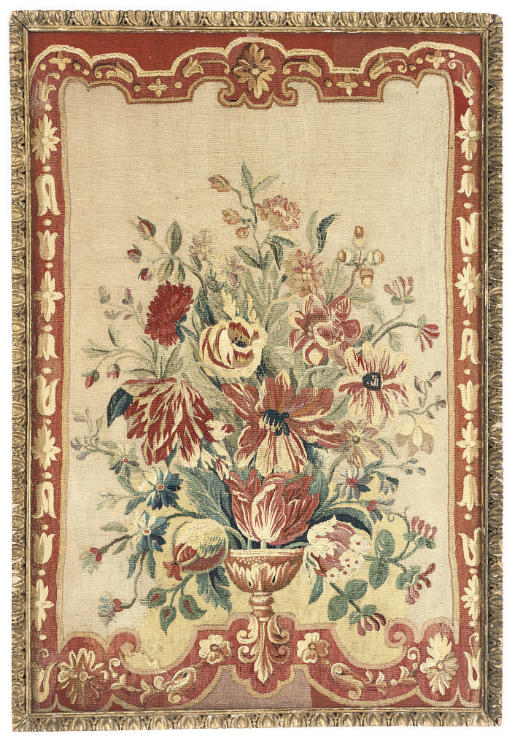 AN AUBUSSON TAPESTRY NEEDLEWOR