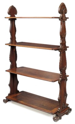 A COLONIAL-STYLE OAK AND CHEST