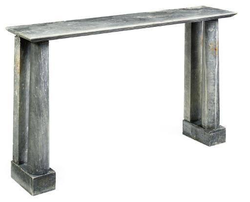 AN EMPIRE BLEU TURQUIN MARBLE CONSOLE TABLE