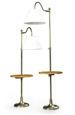 A PAIR OF MODERN BRASS AND SAT