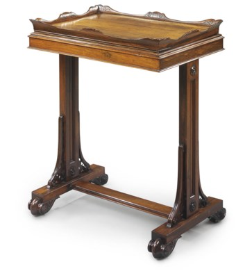 A GEORGE IV ROSEWOOD TRAY-TOP