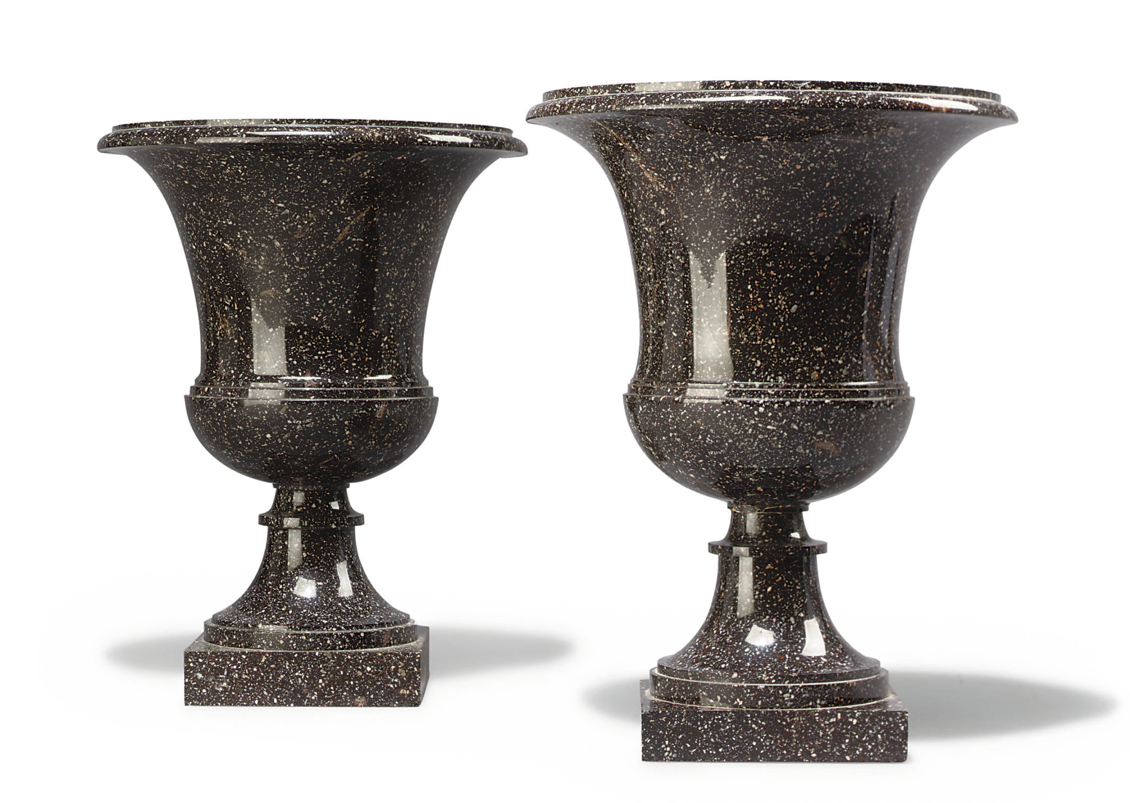 A PAIR OF SWEDISH PORPHYRY (