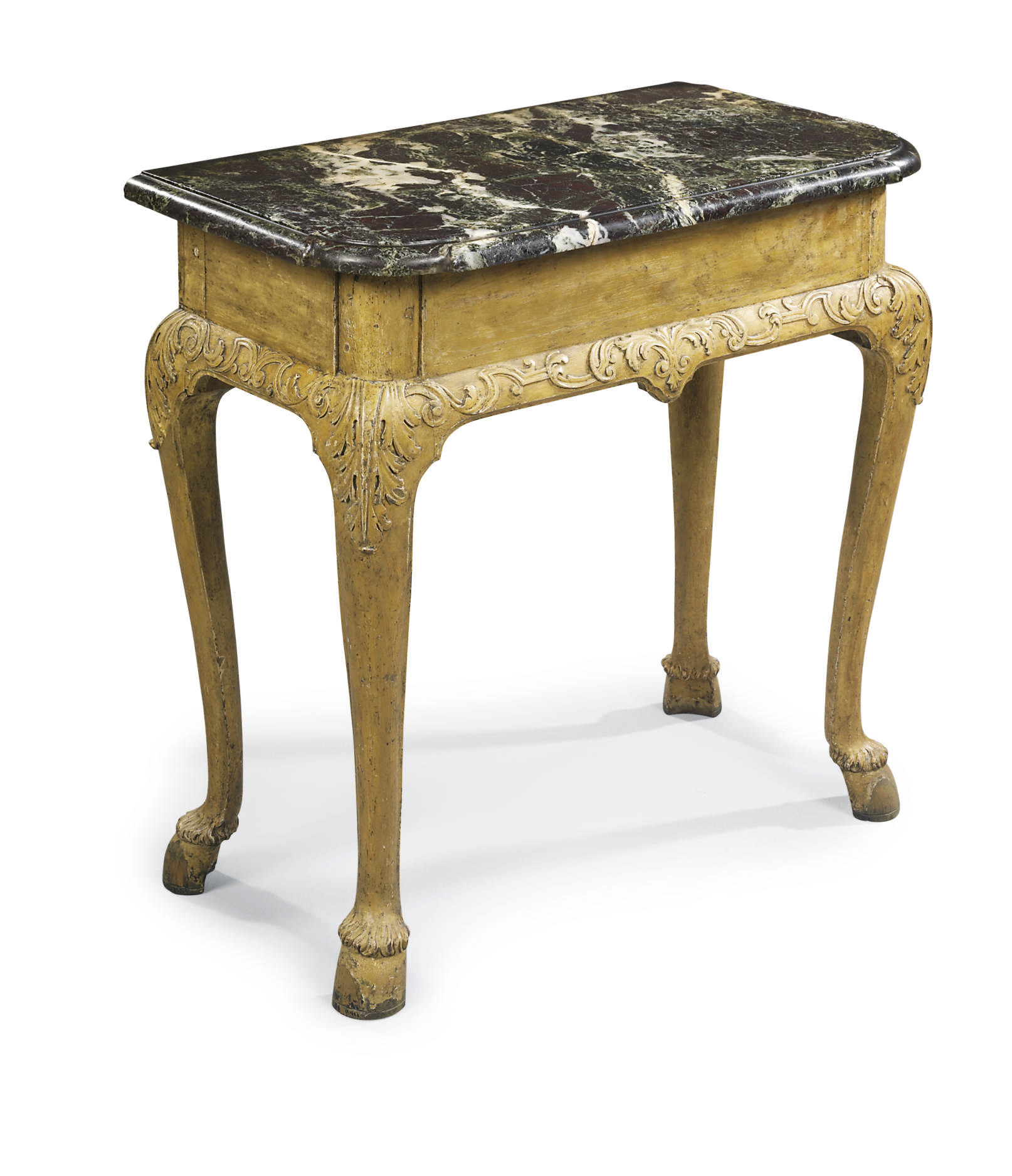 A GERMAN GILTWOOD SIDE TABLE