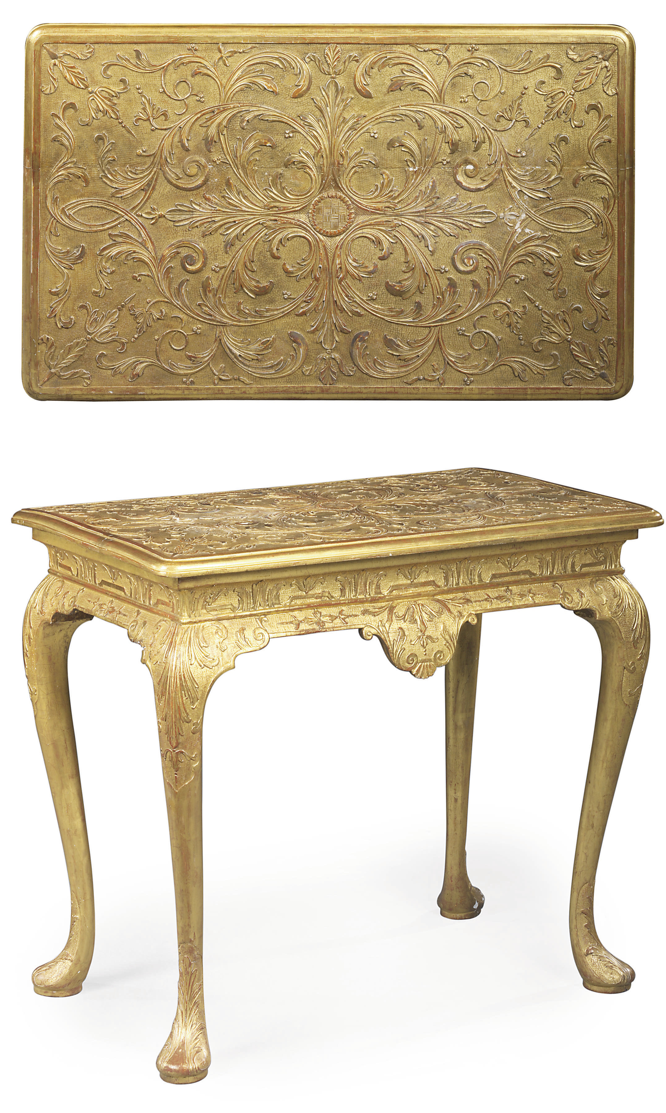 A GEORGE I GILT-GESSO SIDE TABLE