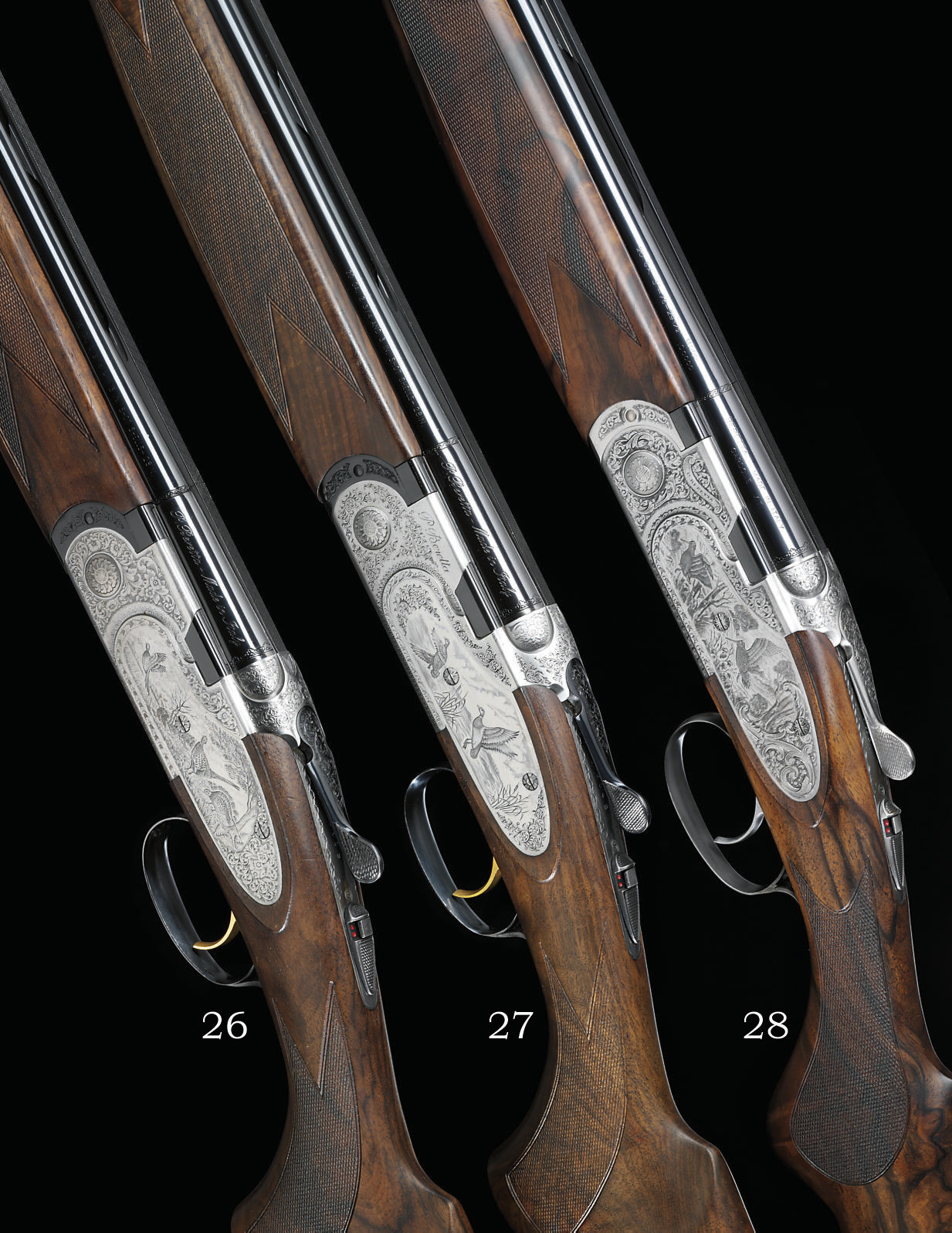 A 20-BORE 'S687 EELL DIAMOND PIGEON' MODEL SINGLE-TRIGGER OVER-AND-UNDER SIDEPLATED BOXLOCK EJECTOR GUN BY BERETTA, NO. M54964B