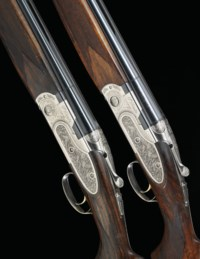 A PAIR OF 12-BORE SINGLE-TRIGGER '687 EL GOLD PIGEON II' MODEL OVER-AND-UNDER SIDE-PLATED BOXLOCK EJECTOR GUNS BY BERETTA NOS. PO8535 6 B