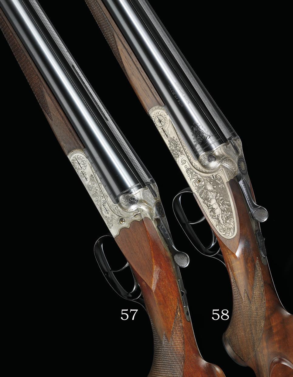 A 16-BORE BOXLOCK EJECTOR GUN BY SIMSON SUHL, NO. 272121