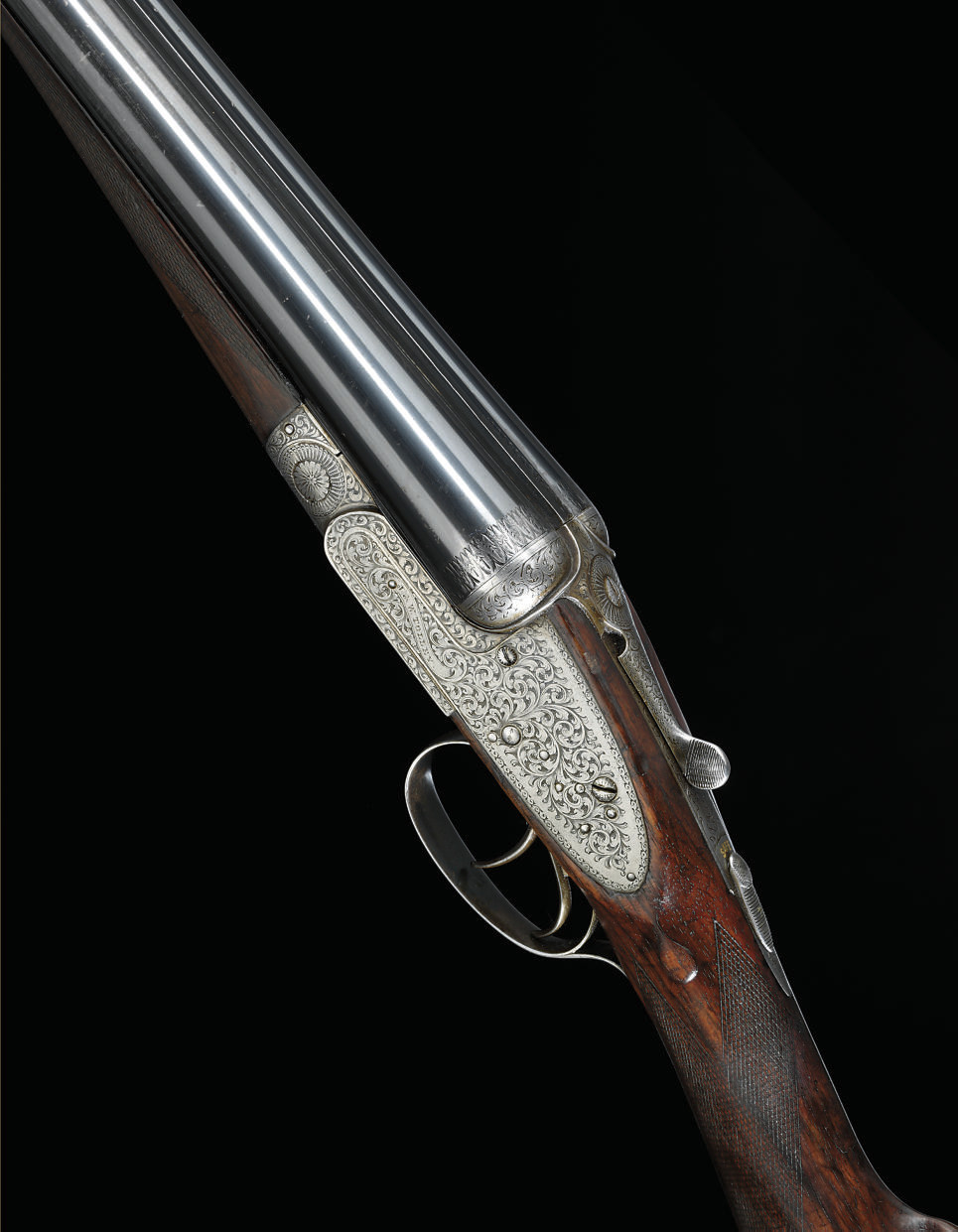 A 12-BORE SIDELOCK EJECTOR GUN BY J. & W. TOLLEY, NO. 9473
