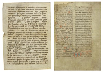 THREE BIFOLIA, in Latin and Ge