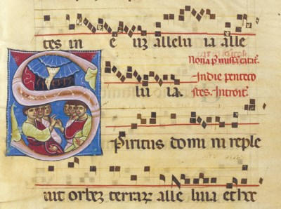 PENTECOST, on a leaf from a Gr
