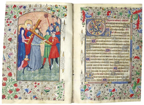 BOOK OF HOURS, in Latin and Du