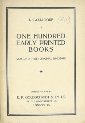 GOLDSCHMIDT, Ernst Philip (188