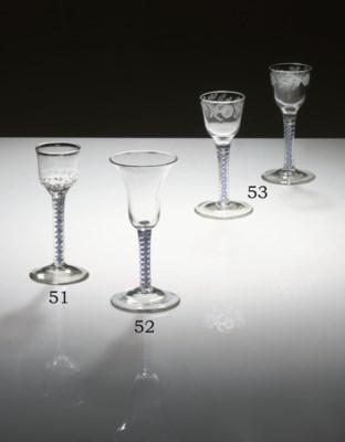 A COLOUR-TWIST WINE-GLASS