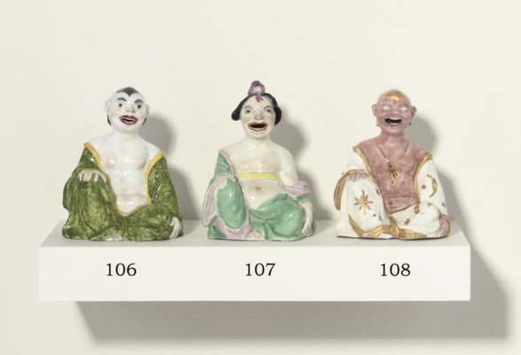 A MEISSEN SEATED PAGODA FIGURE
