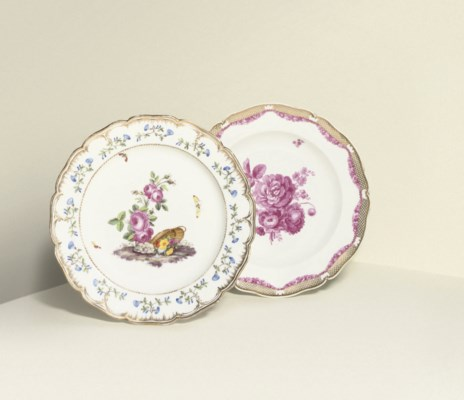 TWO BERLIN PLATES FROM PRUSSIA