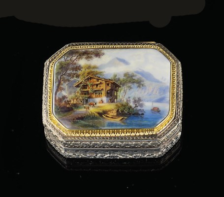 A FRENCH SILVER-GILT SNUFF-BOX