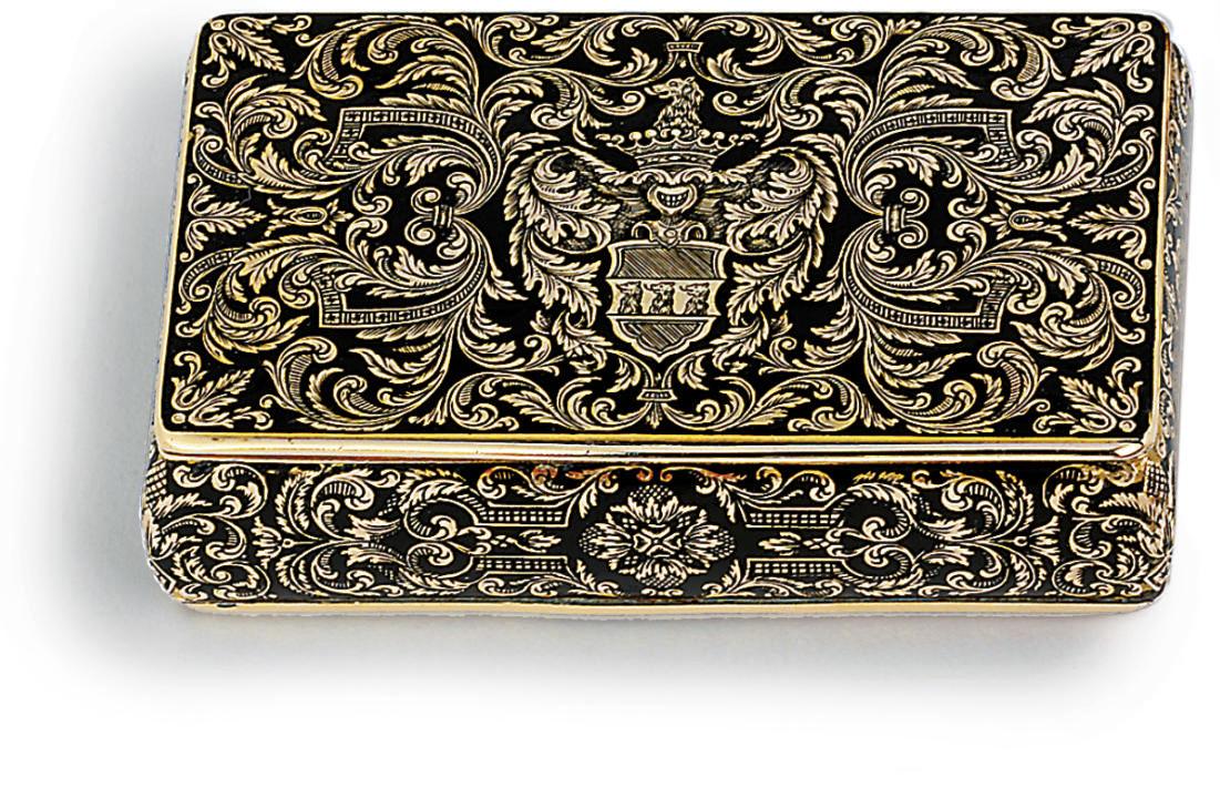 SWISS ENAMELLED GOLD SNUFF-BOX