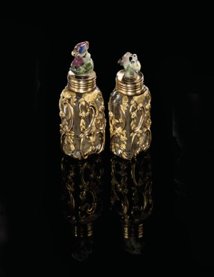 A PAIR OF GEORGE II GOLD-MOUNT