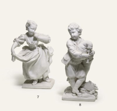 A SEVRES WHITE BISCUIT FIGURE
