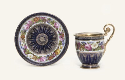 A SEVRES (LOUIS-PHILLIPPE) BLU