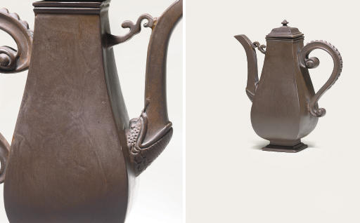 A BOTTGER BROWN STONEWARE BALU