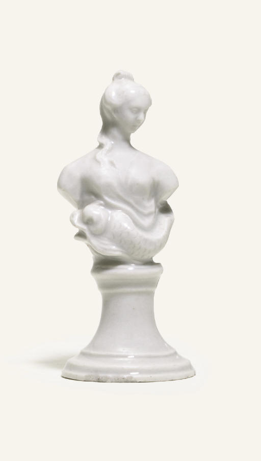 A BADEN-BADEN WHITE BUST OF A